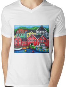 Colours of Lunenburg, Nova Scotia Mens V-Neck T-Shirt