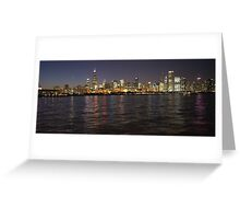 October Pink Chicago Skyline Greeting Card