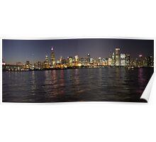 October Pink Chicago Skyline Poster