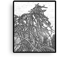 the weight and wait of winter Canvas Print