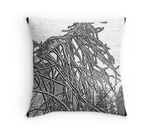 the weight and wait of winter Throw Pillow