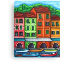 Colours of Liguria Canvas Print
