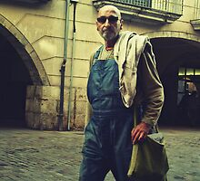 Dude in dungarees by Rebecca Tun