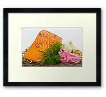 A Gourmets' Lunch Framed Print