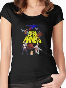 Battle of the Planets Women's Fitted Scoop T-Shirt