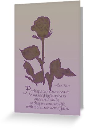 Digital Rose With Quote Card by Sandra Foster