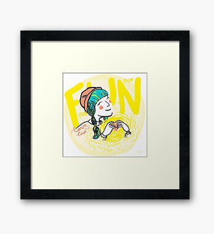 fun-love-sun Framed Print