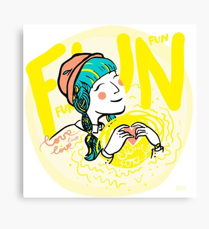 fun-love-sun Canvas Print