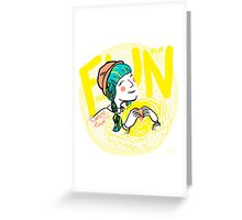 fun-love-sun Greeting Card
