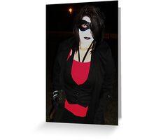 Batman Dark Knight (Joker) Style Harley Quinn  Greeting Card