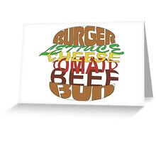 Love me burger Greeting Card