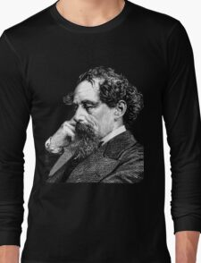 Charles Dickens portrait Long Sleeve T-Shirt