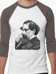 Charles Dickens portrait Men's Baseball ¾ T-Shirt
