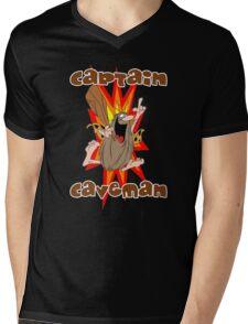 Captain Caveman Mens V-Neck T-Shirt