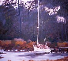 Winter Mooring by katherine rohnert