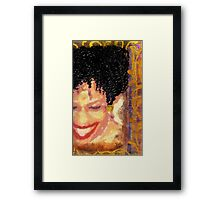 The Artist Who Found her SMILE Framed Print