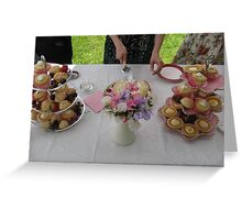 Summer Tea Treats Greeting Card