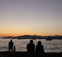 Sunset in English Bay, Vancouver by HapaCanuck