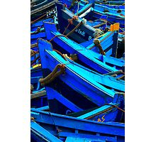 Blue Boats II - Essaouira, Morocco. Photographic Print