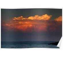 Ocean Sunset Storm Poster