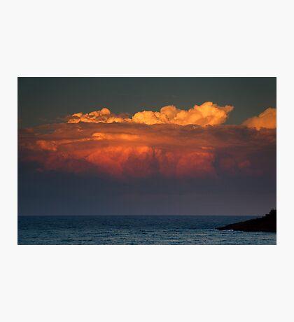 Ocean Sunset Storm Photographic Print