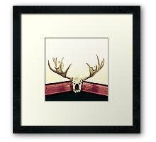 moose trophy Framed Print