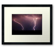 Darling Downs Lightning II Framed Print