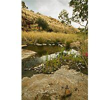 Tupul waterhole, central Australia Photographic Print