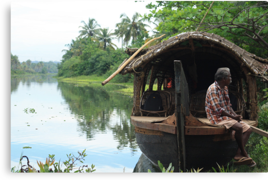 Postcards from Kerala: A boat on the backwaters by bambiisme