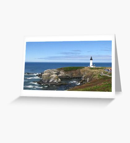 A View of Yaquina Head Lighthouse Greeting Card