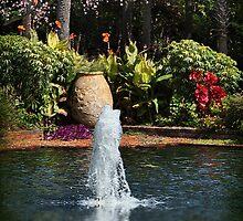 Tropical Garden Fountain by Kathy Baccari