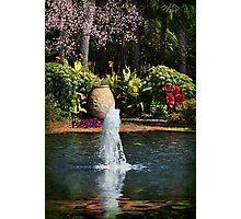 Tropical Garden Fountain Photographic Print