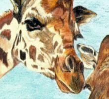 Mama and Baby Giraffe Sticker