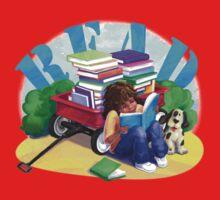 Book Wagon Kids Tee