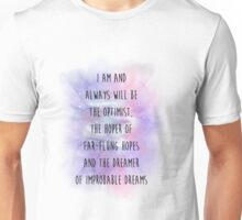 Doctor Who Eleven Optimist Quote Unisex T-Shirt