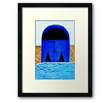 A Wall in Three Parts | The Blue Door Framed Print