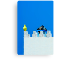 Battlements in Blue II Canvas Print