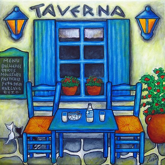 Table for Two in Greece by LisaLorenz