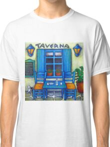 Table for Two in Greece Classic T-Shirt