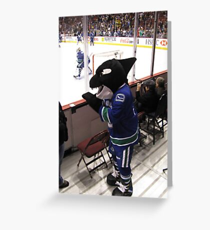 Fin the Canuck Mascot Greeting Card