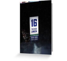 Trevor Linden- Retiring #16 Greeting Card