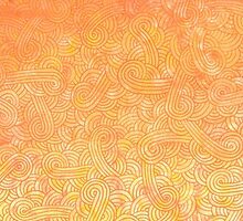 Yellow and orange zentangles by savousepate