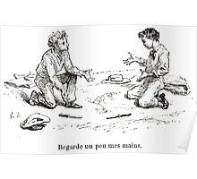 Achille Sirouy Mark Twain Les Aventures de Huck Huckleberry Finn illustration p242 Poster