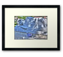 Sleeping Buddha HDR Framed Print