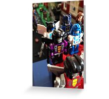 Lego Transformers Greeting Card