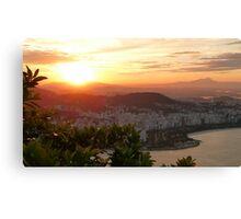 sunset in Rio de Janeiro Canvas Print