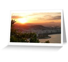 sunset in Rio de Janeiro Greeting Card