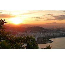 sunset in Rio de Janeiro Photographic Print