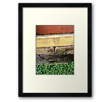 """Bricklayer's Layers"" Framed Print"