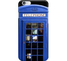 Blue British Phone Booth iPhone Case iPhone Case/Skin